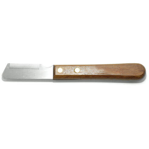 More informations about: Dog Stripping kniffe - wood - 33 teeth - fine - left-handed