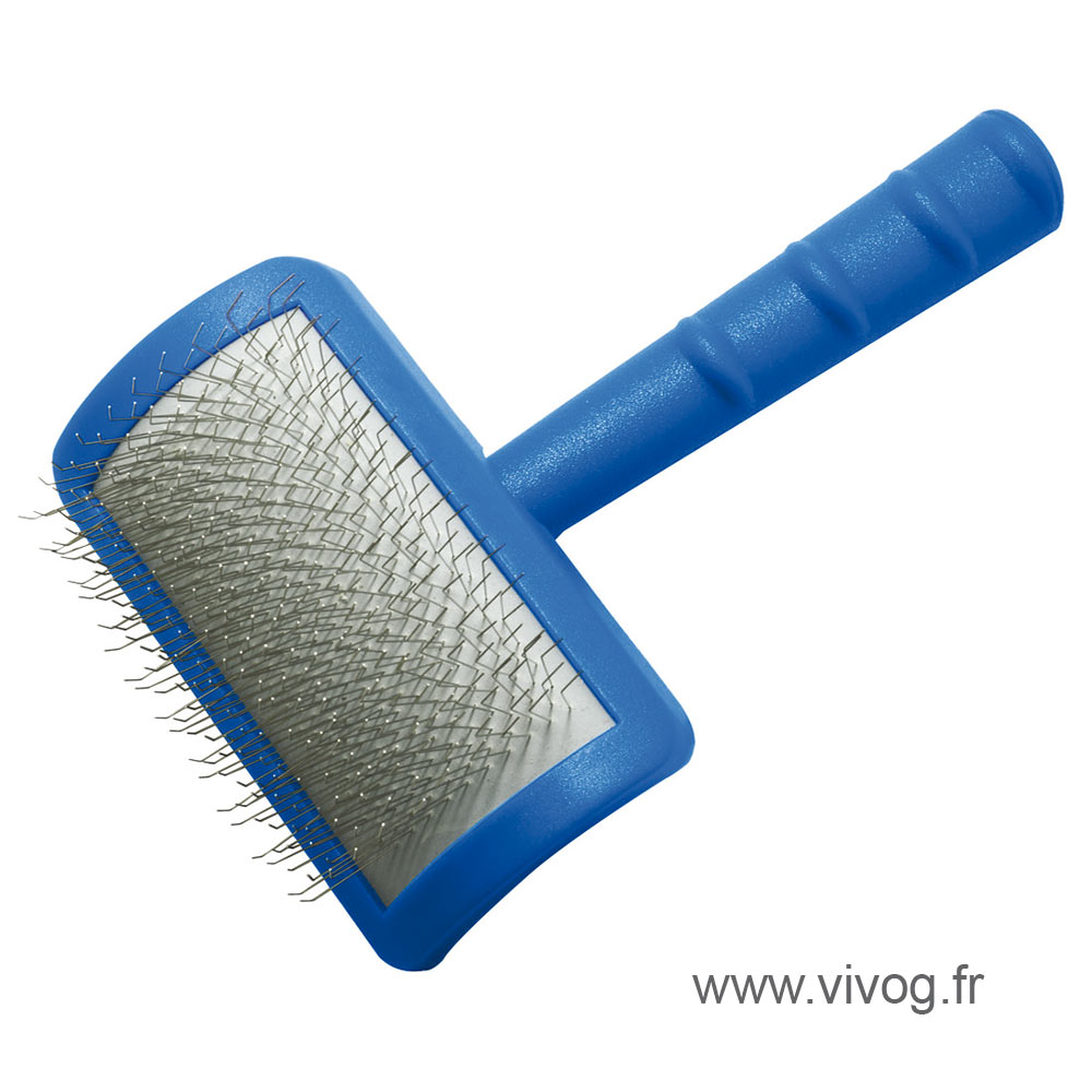 Dog sliker brush Vivog - medium model - very long pimples