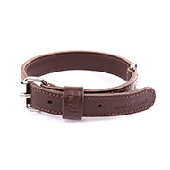 More informations about: Brown leather dog collar - double thick