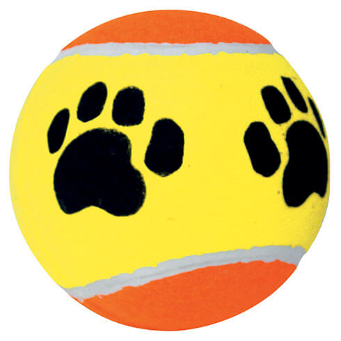 Tennis ball with paw design - diam. 15cm