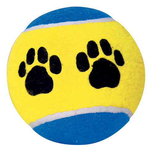 Tennis ball with paw design - diam. 10cm