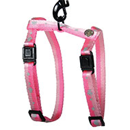 More informations about: Harness for cat - Fish & Bicolor heart - pink