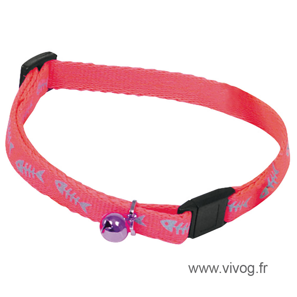Collier pour chat - Fluo Fish - rose