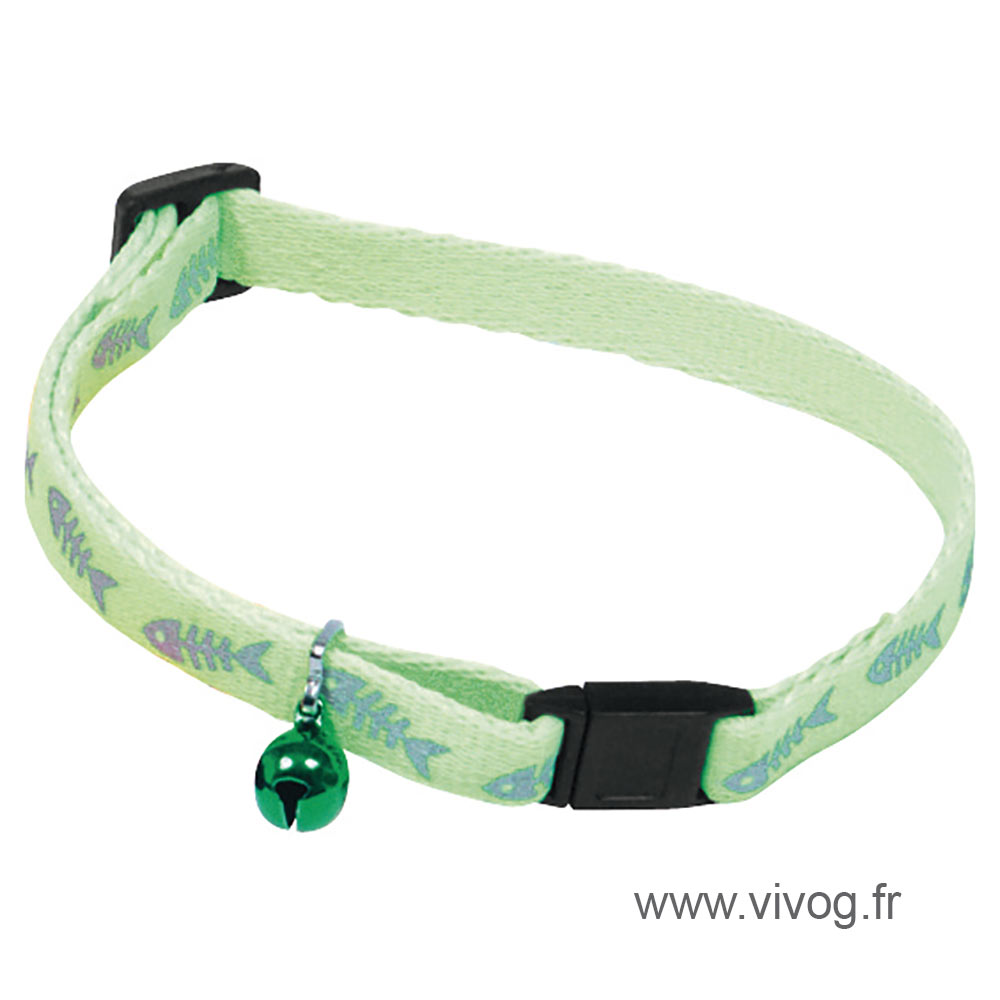Collier pour chat - Fluo Fish - vert