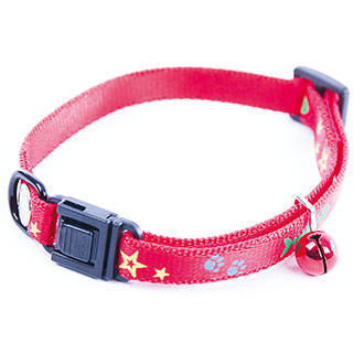 Collar for cat - Fish & Star - red