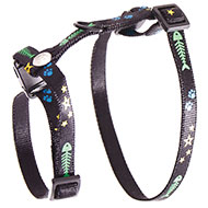 More informations about: Harness for cat - Fish & Star - black