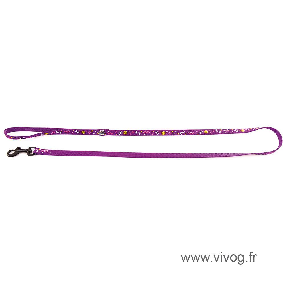 Lead for cat - Carnaval purple