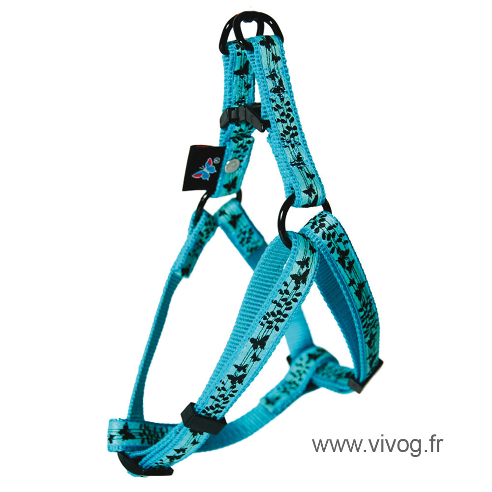 Step in dog harness - Butterflies
