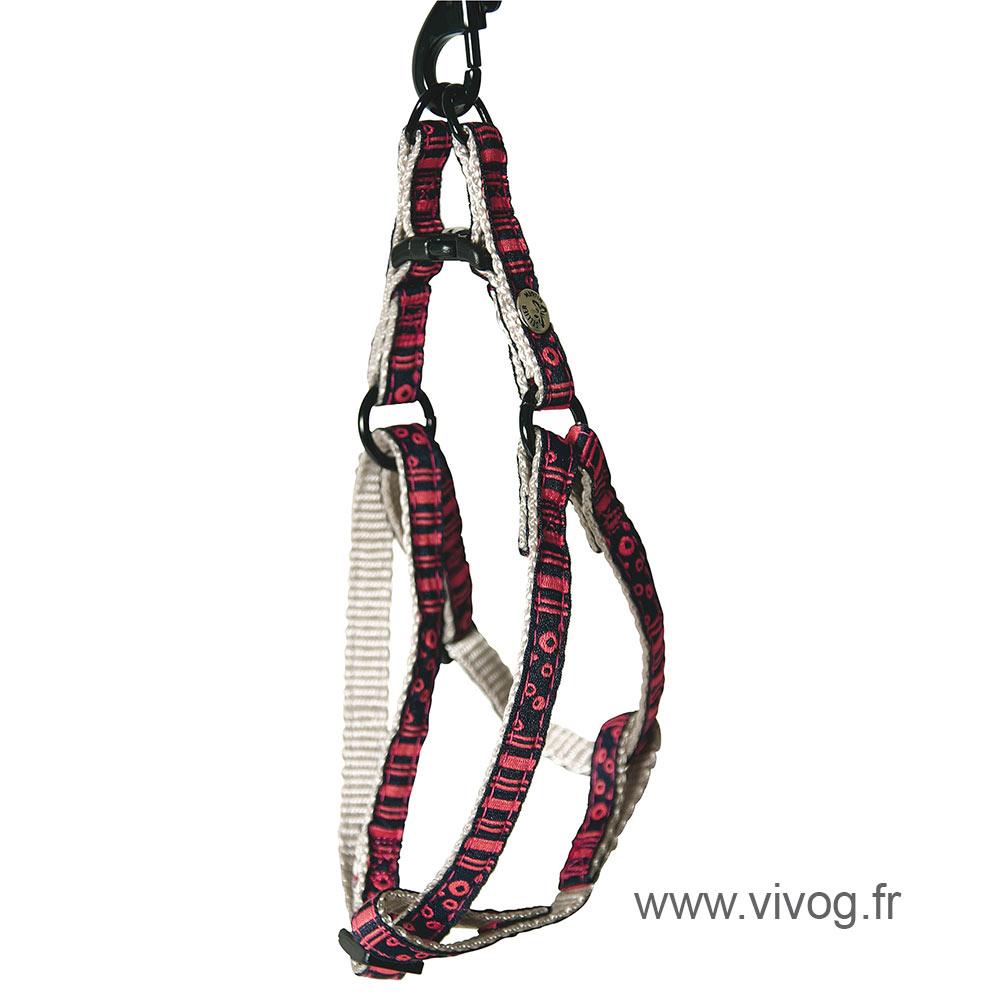 Step in harness for cat - Bubbles - Pink