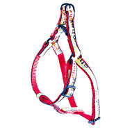 More informations about: Step in harness for cat - cat pattern - red