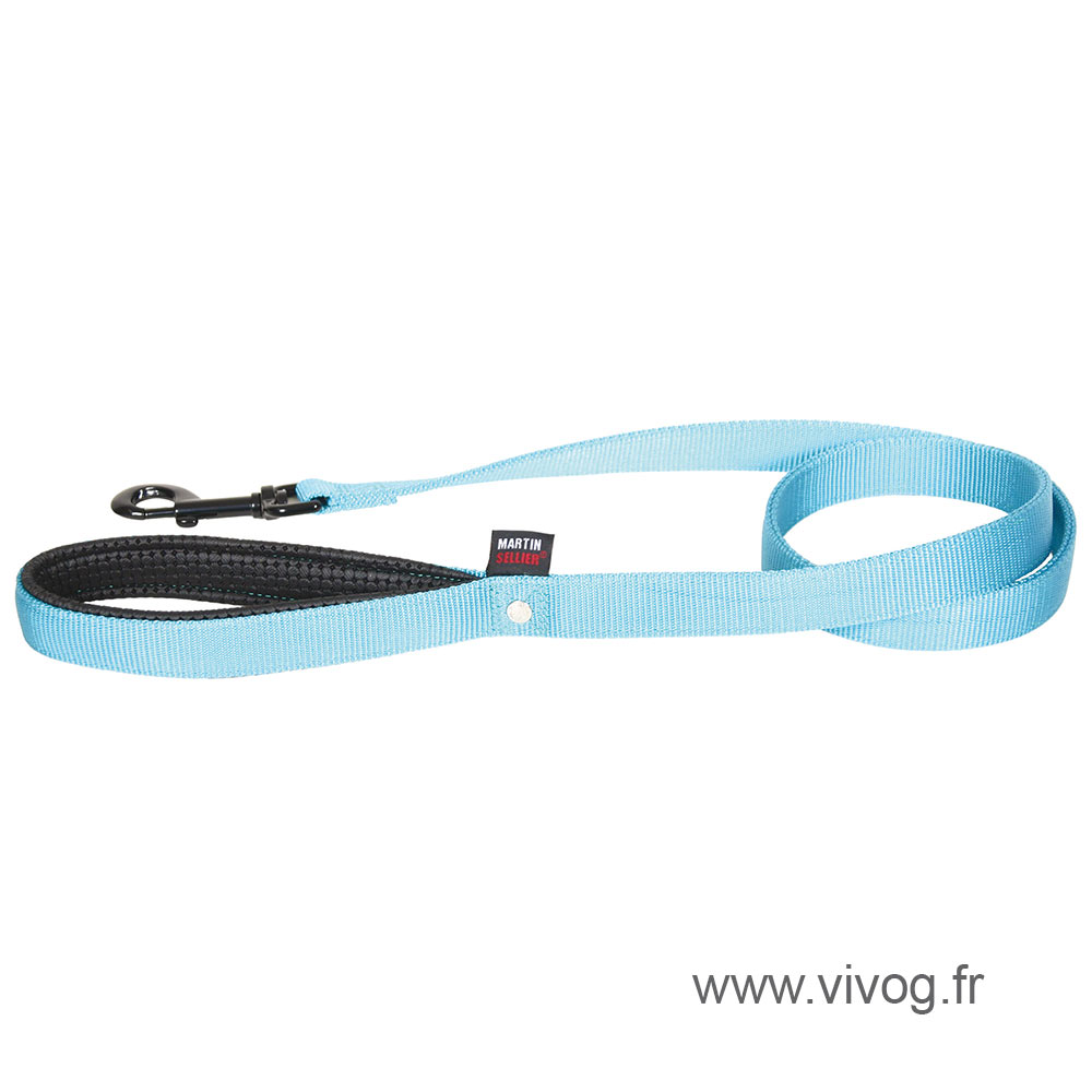 Lead double thickness for dog blue nylon