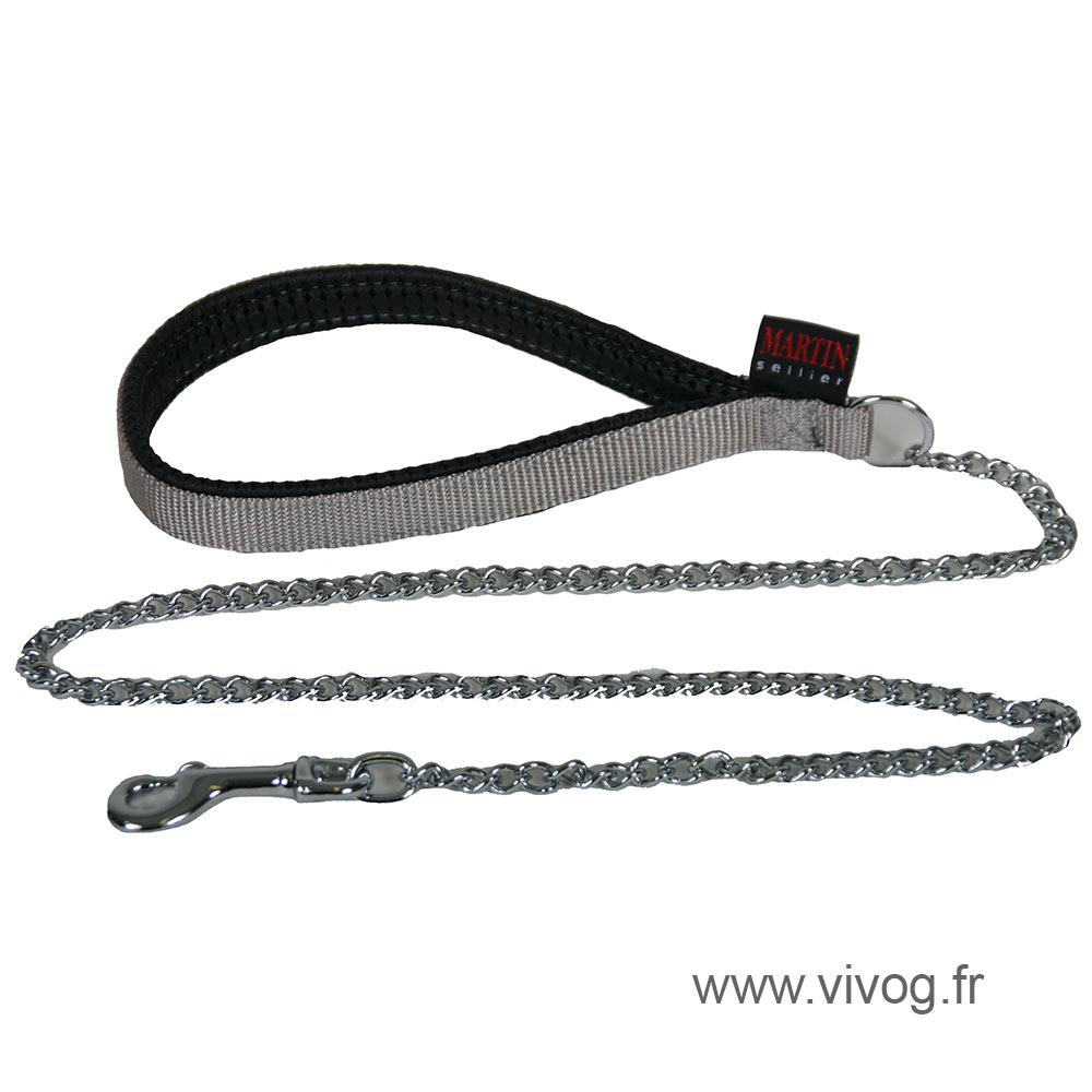Laisse chaîne pour chien - gris