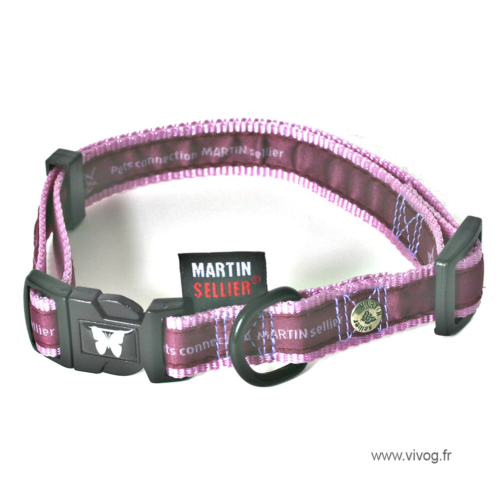 Purple adjustable dog collar - Pets connection