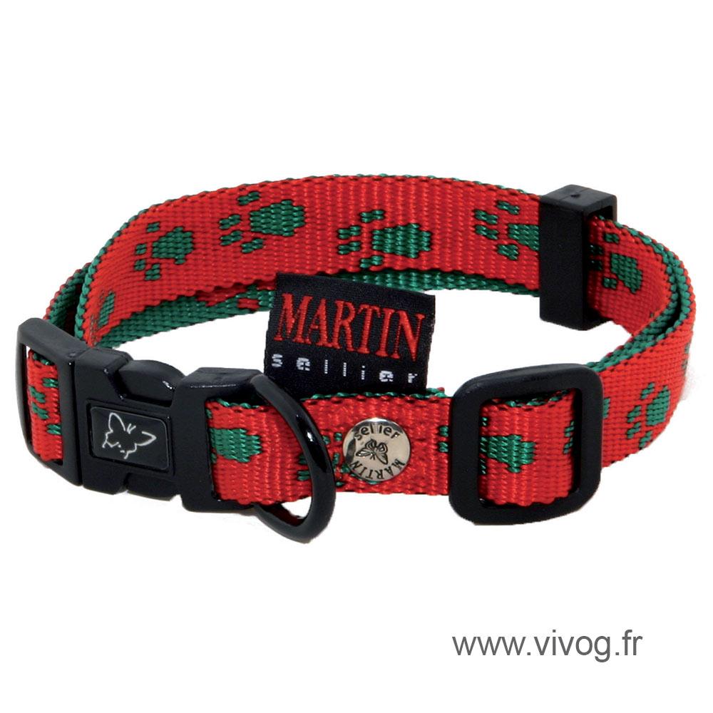 Black red dog Collar - original paw