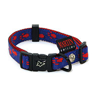 More informations about: Blue red dog Collar - original paw