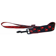 More informations about: Black red dog lead - original paw