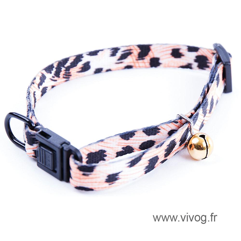 Adjustable collar for cat - Orange Puma