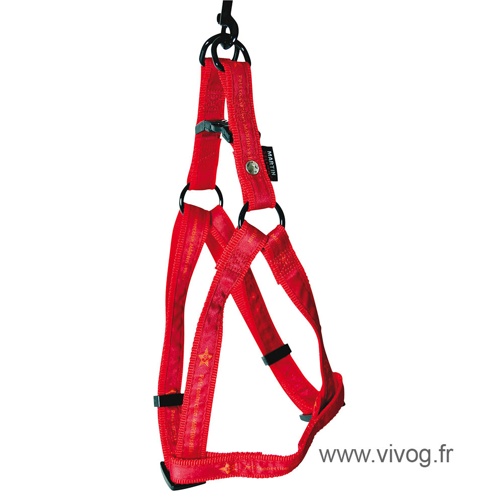 Step in dog harness - Pet connection red