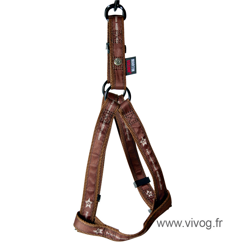 Step in dog harness - Pet connection brown