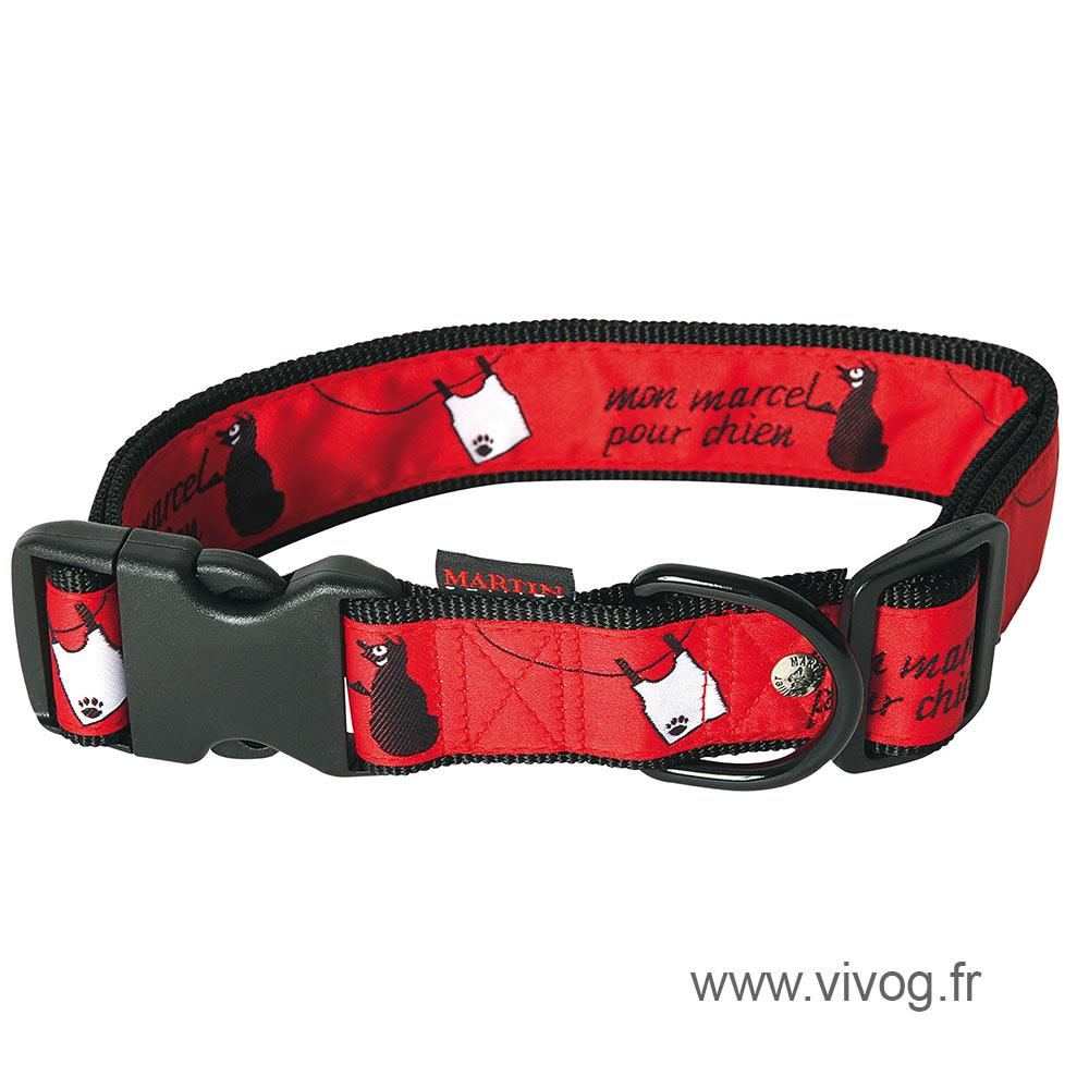 Red collar - Mon Marcel pour chien