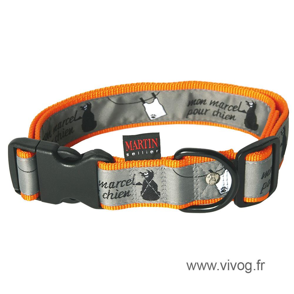 Collier orange - Mon Marcel pour chien
