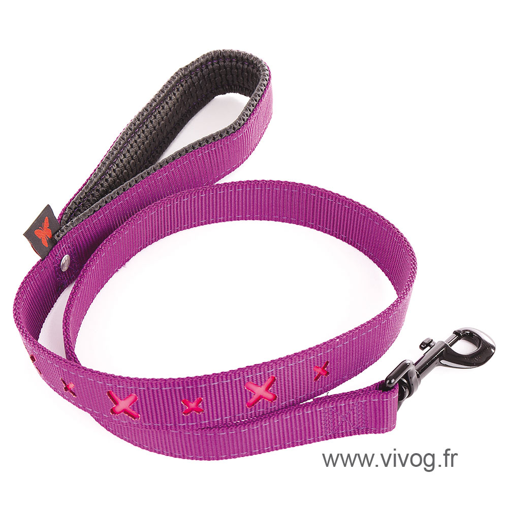 Dog lead - pink cross