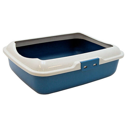 Litter Receptacle with ledge - 3 colours - Blue