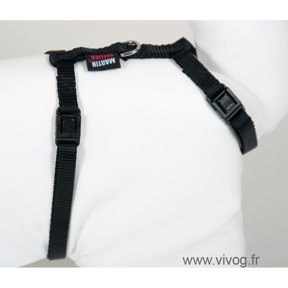 Cat harness - Plain Fabric - noir