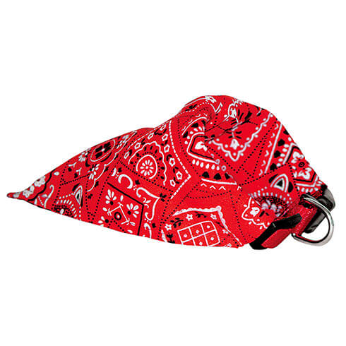 More informations about: Collier BANDANA -  nylon - réglable - ROUGE
