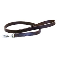 More informations about: Brown leather lead for dogs - double thickness