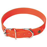 More informations about: Orange flat reflective collar for dog hunting