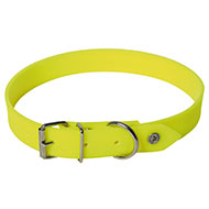 More informations about: Yellow flat reflective collar for dog hunting