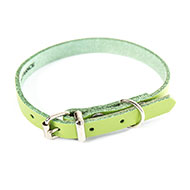 More informations about: Green leather dog collar - classic colored leather