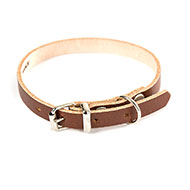 More informations about: Brown leather dog collar - classic colored leather