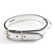 More informations about: White Leather Dog Collar - leather saddle stitching
