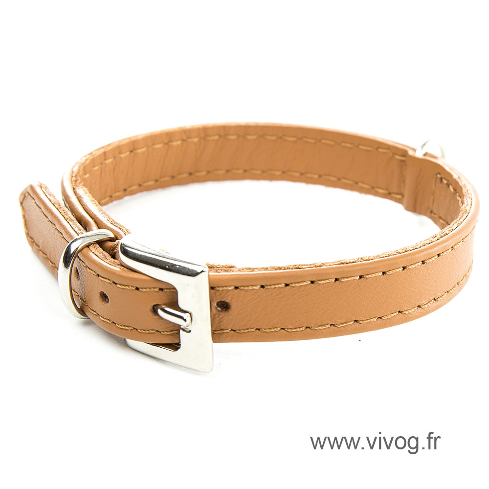 Havane Leather Collar - special small dog collar united right