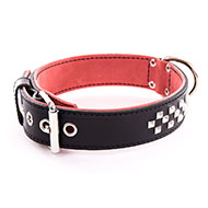 More informations about: Black leather dog collar - Special mastiff