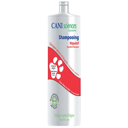 Dog shampoo - flea repellent and tique - Cani Sciences - 500ml
