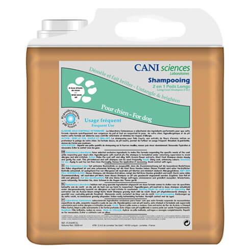 More informations about: Dog shampoo long hair 2 in 1 - conditioning Pro - Cani Sciences
