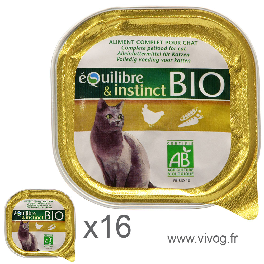 Patee bio for adult cats - Poultry