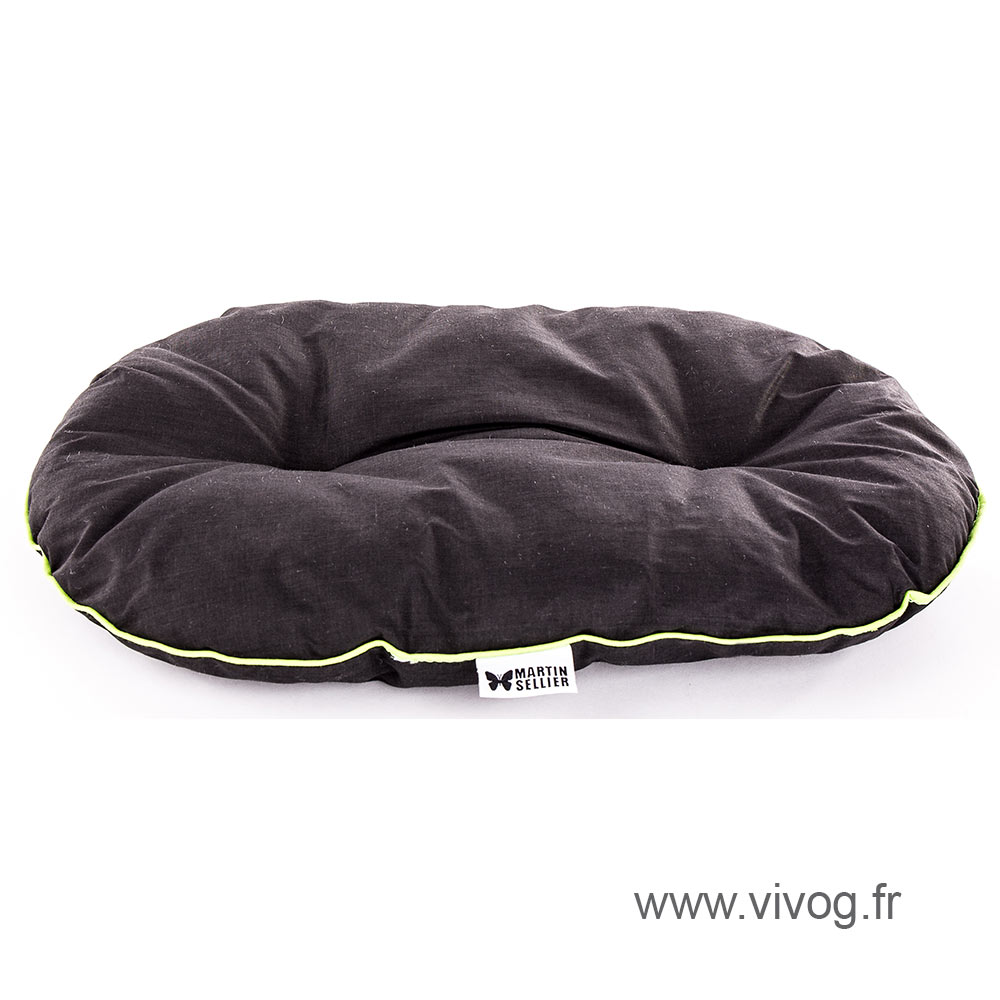 Dog Cushion - black piping