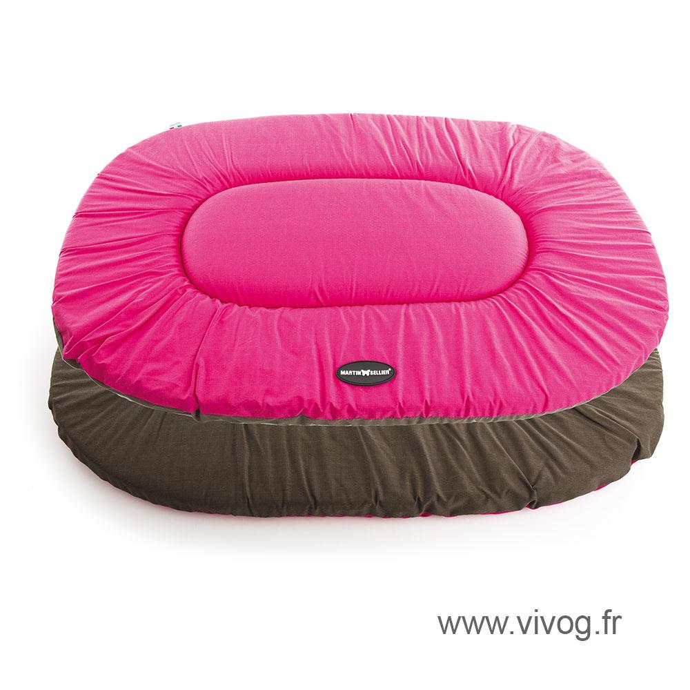 Coussin ovale plat pour chien - Classic rose