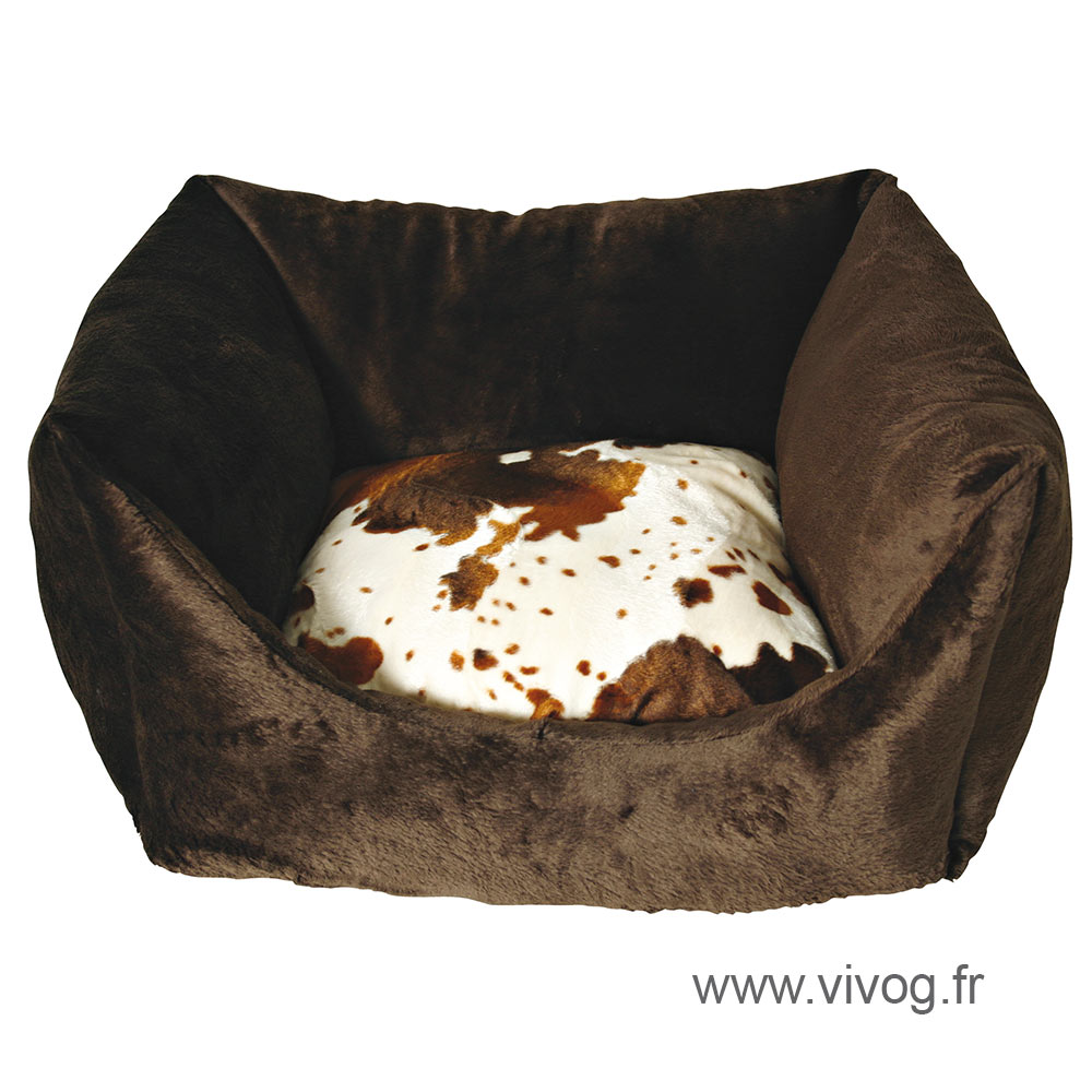 Square dog basket - Cow - 50cm
