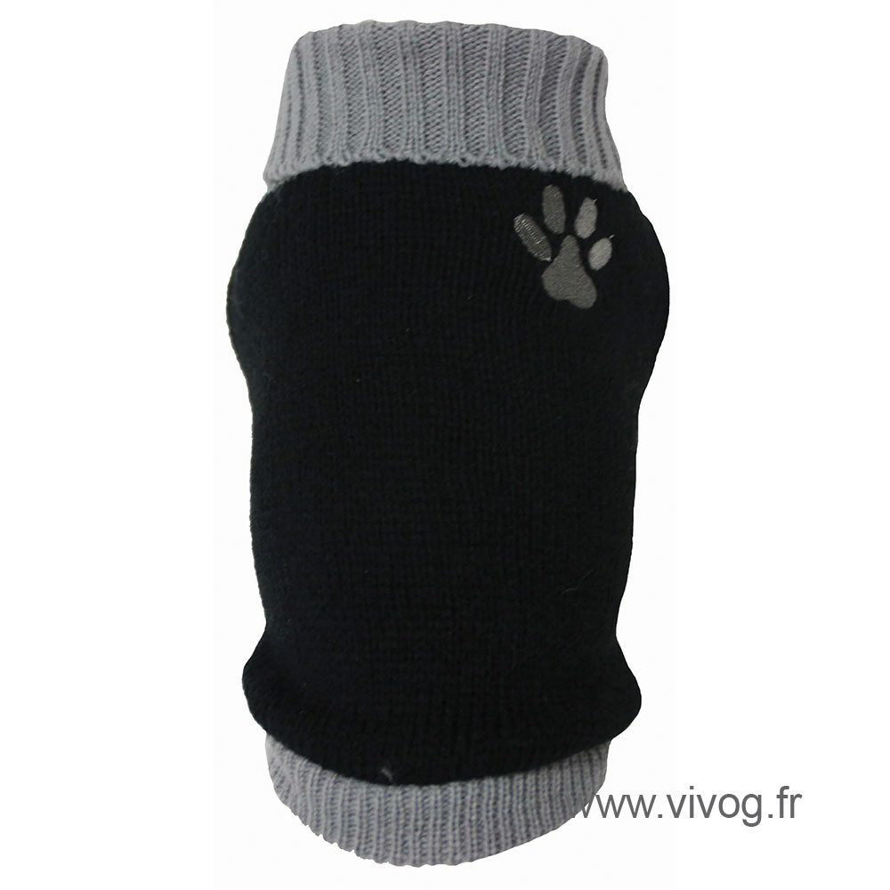 Dog Sweater - grey Paw