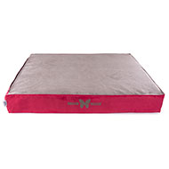 More informations about: Thick cushion for dogs - red grey Suédine