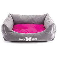 More informations about: Domino dog's basket - fushia Suédine
