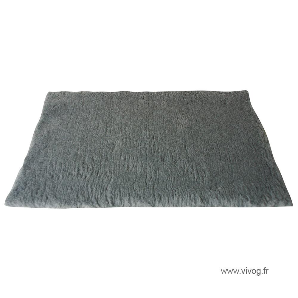 Tapis pour chien - gris uni