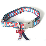 Collier pour chien - Dog Save The Queen - larg 15mm Long 30 à 45cm