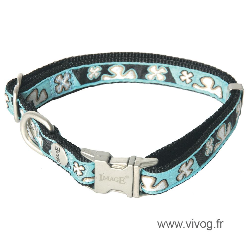 Dog collar - Bowxy blue