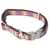 Dog collar - Bowxy red - W15mm L30 to 45cm